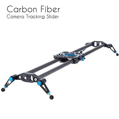 "Selens 31"" 80cm Carbon Fiber Dslr Camera Slider Rail Track Dolly Video Stabilization (Blue)"