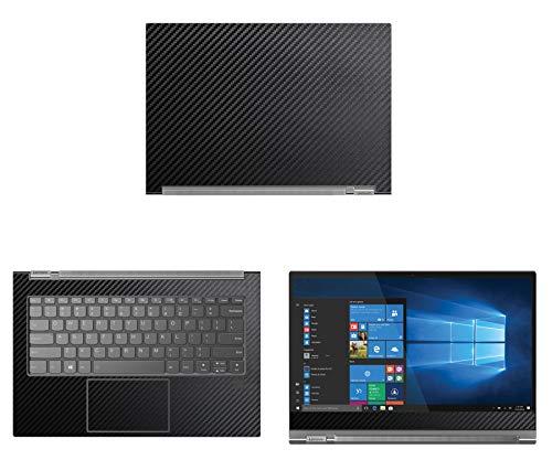 "decalrus - Protective Decal for Lenovo Yoga C930 (13.9"" Screen) Laptop Black Carbon Fiber Skin Skins Decal wrap CFlenovoYoga13_C930Black"