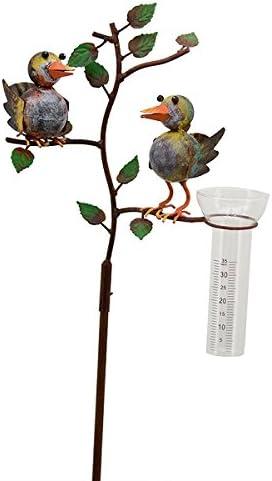 Pluviómetro Jardín Conector Metal Pájaros: Amazon.es: Jardín