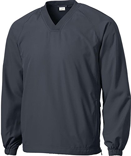 (Joe's USA(tm - Men's Athletic All Sport V-Neck Raglan Wind Shirts in 3XL Graphite Grey)