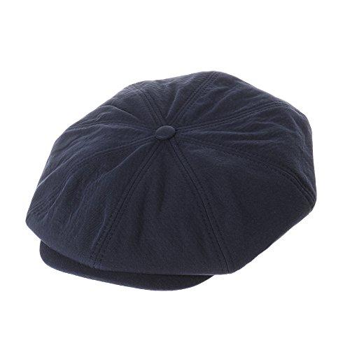 Blue Hemp Hat - WITHMOONS Cool Cotton Baker Boy Flat Cap Monochrome Beret Ivy Hat LD3603 (Navy)