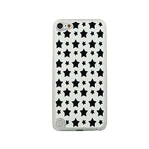 MOFY- Negro estrella de cinco puntas patr—n de las venas del cuero PC caso duro para el iPod touch 5