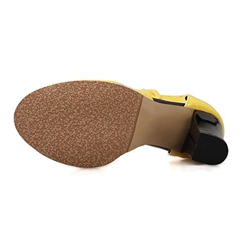 Toned Two Sandals Girls Mid Yellow Adee Polyurethane Outdoor Heel waUxWTvZ