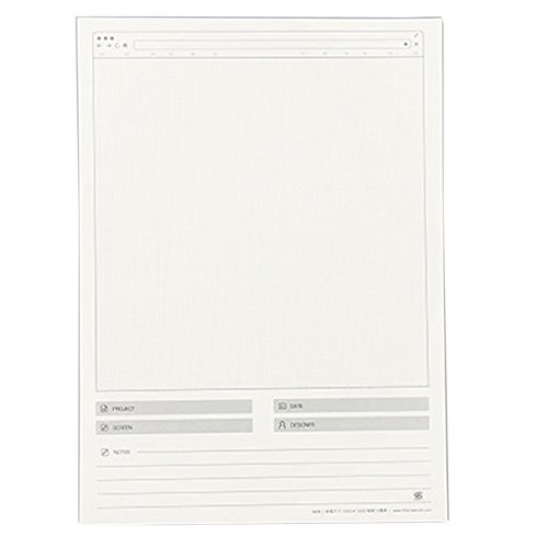 Vertical Rectangle Shape (Lzttyee Creative Paper Web Draft Drawing Template Stencil Responsive Sketch Pad for App UI Design Vertical)