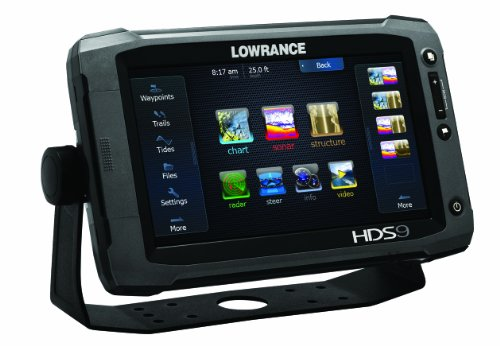 Lowrance 000-10772-001 HDS-9 Gen2 Touch with 9-Inch LCD Touchscreen, Multi-Function Display, Built-In Sounder and 50/200KHz Transducer