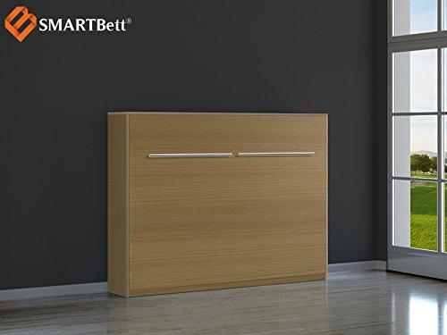 Schrankbett SMARTBett Klappbett Querbett 140cm, horizontal ausklappbar Buche