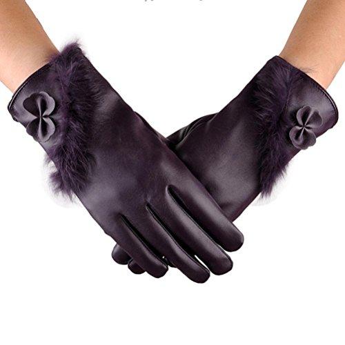 Goenn スマホ 手袋 レディース レザー手袋 革 裏起毛 冬 保温 暖かい アウトドア タッチパネル グローブ 防水 防寒 自転車 バイク アウトドア