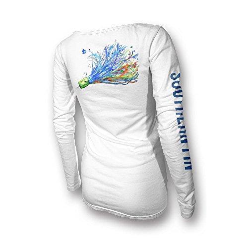 Sleeve Performance Fishing Shirt (Womens Performance Fishing Shirt - Southern Fin Apparel Girls Ladies Long Sleeve (X-Large, Offshore Lure))