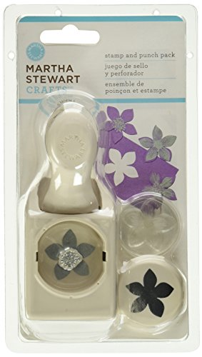 Martha Stewart Crafts Stamp And Punch Set, Flower, Punches 1-Inch (Craft Punch Stamp)