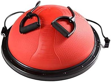 SMX バランスボールトレーナー61センチメートル200キロの容量の半分ヨガバランスボールの多機能ヨガバランスハーフボールフィットネス・ストレングスエクササイズワークアウト (Color : Red)