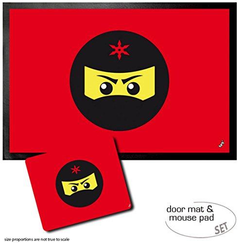 1art1 Gaming, Icono Ninja, Rojo Felpudo Alfombra (60x40 cm ...