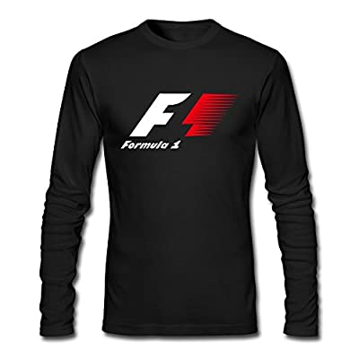 Men's Auto Racing Formula One F1 Logo T-shirts Black