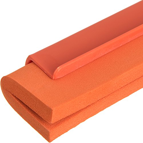 Carlisle 4156824 Spectrum Double Foam Rubber Floor Squeegee with Plastic Frame, 24'' Length, Orange by Carlisle (Image #3)