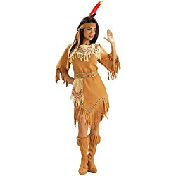 Forum Novelties Women's Adult Native American Maiden Costume, Multi Colored, One Size