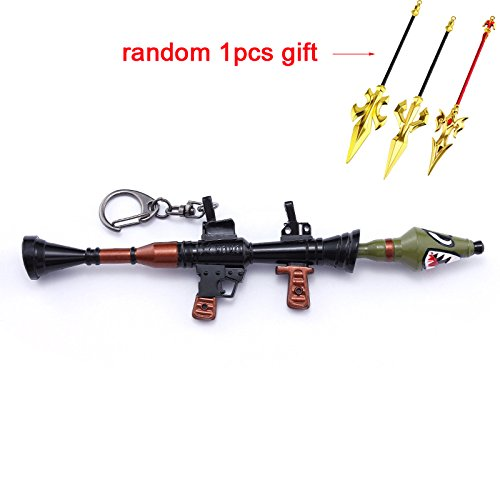 (mankecheng games metal 1/6 Metal Shark Rocket Launcher Gun Model Figure Arts Toys Collection Keychain Gift)