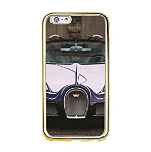 Vivid Luxury Bugatti Printing Cover Case TPU Golden Border series for Iphone 6/6s (4.7 inch)