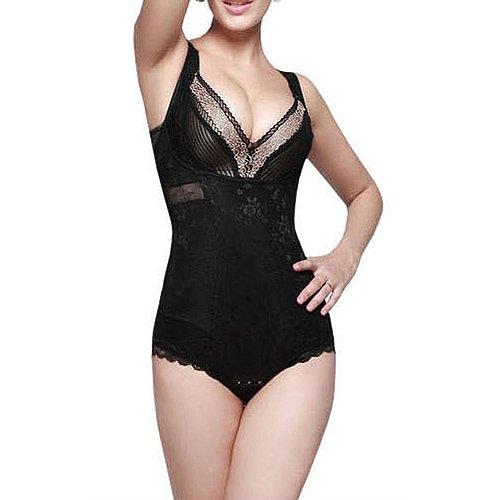 Corse - TOOGOO(R)Corse correccion de postura mujer esculpir el cuerpo ropa Negro L (tamano: 38-44)