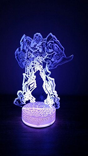 (Transformer Bumblebee 3D LED Night Light 7 Color )