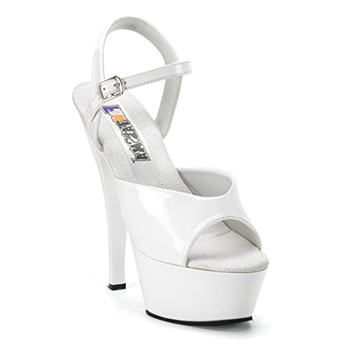 Funtasma Door Pleaser Dames Juliet-209 Platform Sandaal Wit