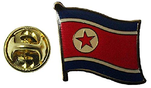 Pin Flag Korea Lapel - SUPERDAVES SUPERSTORE North Korea Country Flag Small Metal Lapel Pin Badge 3/4 X 3/4 Inches New