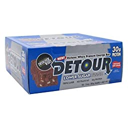 Forward Foods Detour Low Sugar Deluxe Whey Protein Energy Bar Chocolate Chip Caramel - 12 - 3.0 oz bars
