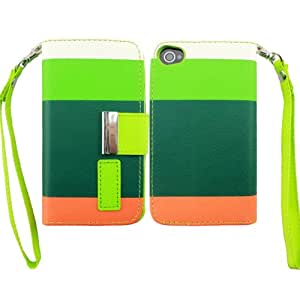 Harryshell Bright Colored Fashion Pu Leather Stand Protective Case Cover for Iphone 4 4g 4s Case (C)
