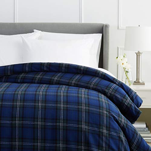 Pinzon Plaid Flannel Duvet Cover - Twin, Blackwatch Plaid