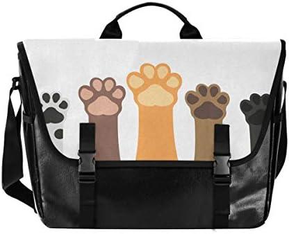 メッセンジャーバッグ メンズ 猫の爪 カラフル 斜めがけ 肩掛け カバン 大きめ キャンバス アウトドア 大容量 軽い おしゃれ