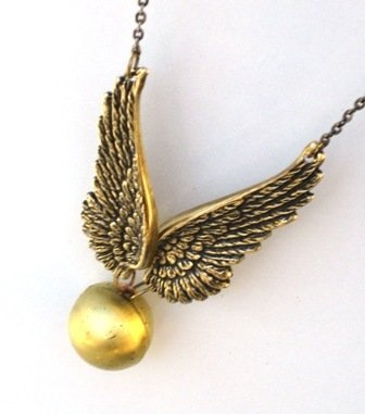 Harry Potter - Steampunk Golden Snitch Locket Necklace