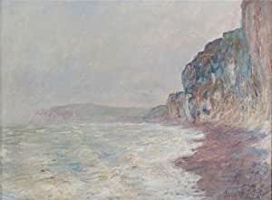 The high quality polyster Canvas of oil painting 'Falaises, Temps Gris, 1882-1886 By Claude Monet' ,size: 18x24 inch / 46x62 cm ,this High Resolution Art Decorative Canvas Prints is fit for Bathroom artwork and Home decor and Gifts