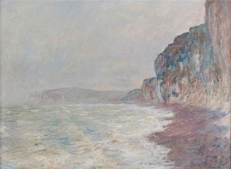 high quality polyster Canvas ,the Beautiful Art Decorative Prints on Canvas of oil painting 'Falaises, Temps Gris, 1882-1886 By Claude Monet', 8x11 inch / 20x28 cm is best for Game Room gallery art and Home gallery art and Gifts (Red Tempera Temp)