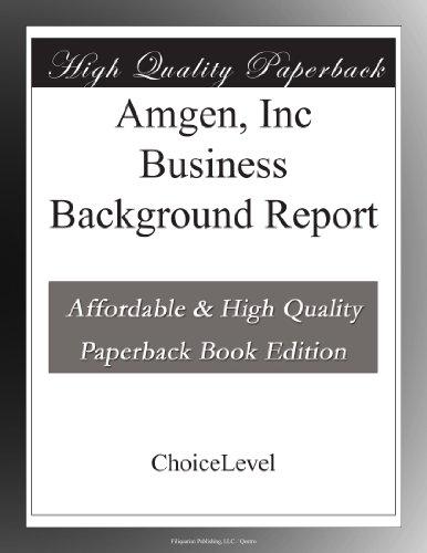 amgen-inc-business-background-report