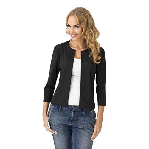 H&N Casual 3/4 Sleeve Blazer Suit Jackets For Women Winter Coat Outwear (XL, (Quarter Sleeve Blazer)