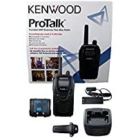 Kenwood TK-3230 ProTalk XLS Portable UHF Business Two-Way Radio, 1.5 Watts Transmit Power, 6 Channels, FleetSync, Black