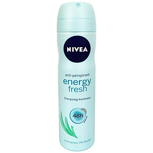 - Nivea Energy Fresh Anti-Perspirant Spray Deodorant for Women, 150 ml (Pack of 8) + Our Travel Size Perfume