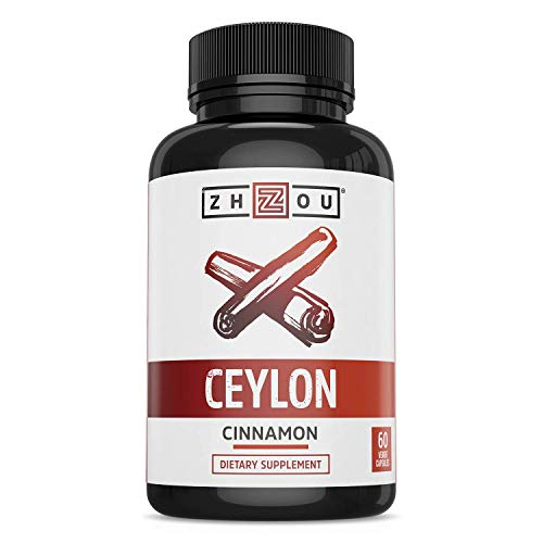 Ceylon Cinnamon Capsules - Designed to Support Blood Sugar, Heart Health and Joint Mobility - ' True Cinnamon ' Native to Sri Lanka - 1200mg per Serving