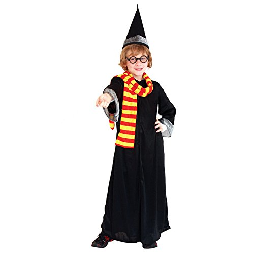 ZOEREA Jungen Harry Potter Robe Kostüm Set Deluxe Halloween Cosplay Abendkleid Komplettkostüm