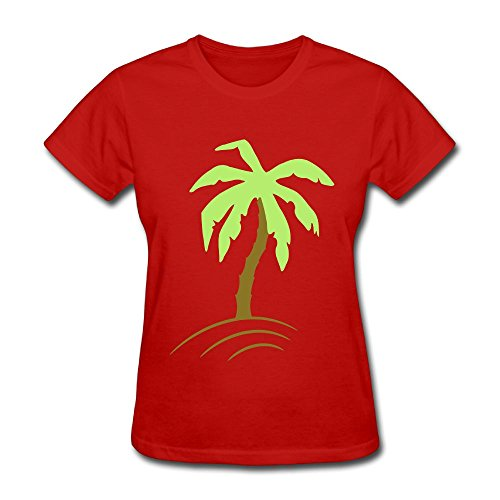 Unlongquhu Palm Tree Beach Holiday Sun 2c Women's Short Sleeve Fashion T ShirtSize M Color - Shore Store Jersey Hours