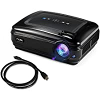 Video Projector,FUJSU 3200 Lumens HD LED Slide Projector 1080P HDMI USB VGA SD Card AV for Office Powerpoint Presentations Home Cinema Theater Office Projectors for TV Laptop iPhone Andriod Smartphone