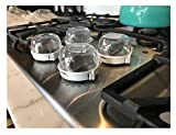 S&S Kitchen Stove Knob Covers, Baby Safety Oven Gas Stove Gas Oven Lock for Baby Child Toddler Kitchen Safety -Set of 4 (#1)