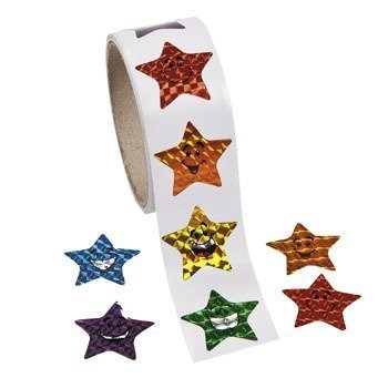 Laser Smile Stickers Approx Shrink wrapped