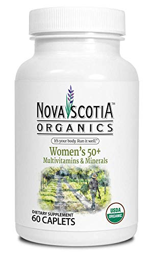 Womens Organic Plus Multivitamins and Minerals 60 Caplets , 50 plus organic, vegetarian, food sourced vitamins and minerals, natural mulitivitamin, no GMO s