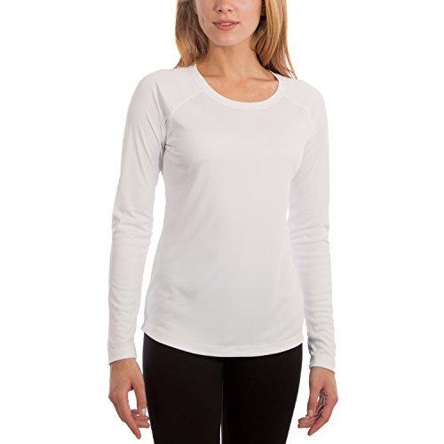 Vapor Apparel Women's UPF 50+ UV/Sun Protection Long Sleeve T-shirt Large White