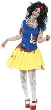 Smiffys Disfraz de blancazombi, Azul y Amarillo, con Vestido, Dibujo ...