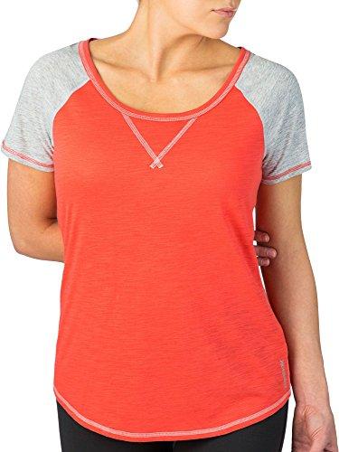 半球も飽和するリーボック トップス シャツ Reebok Women's Baseball Training T-Shirt LaserRedMg [並行輸入品]