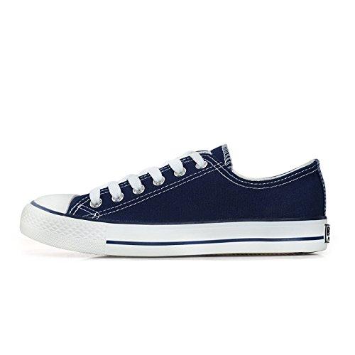 uomo classiche blu tela degli di casual Scarpe e uomo le aiutare basse per da traspiranti da primavera scarpe studenti autunno scarpe scarpe WFL basse 4AFvwZqw