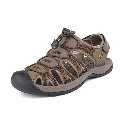 DREAM PAIRS Men's 160912-M-NEW Khaki Yellow Adventurous Summer Outdoor Sandals Size 11 M US - Khaki Mens Sandals
