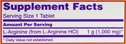 NOW Foods L-Arginine 1000mg, 120 Tablets (2 Pack) by NOW Foods (Image #2)
