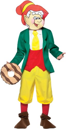 Rasta Imposta Keebler Elves Outfit Ernie Elf Adult Halloween Costume (Ernie The Elf)