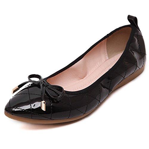 Zapatos De Ballet Plegables Para Mujer T-july Zapatos De Vestir Cómodos Antideslizantes En Negro